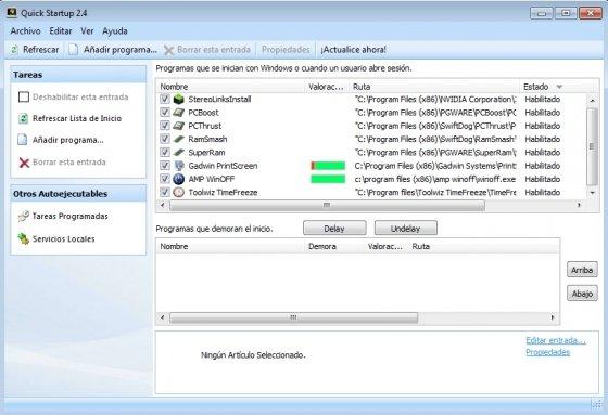 Listado de aplicaciones que se inician con Windows