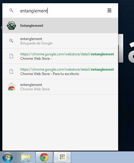 Barra de búsqueda en el lanzador de aplicaciones de Chrome