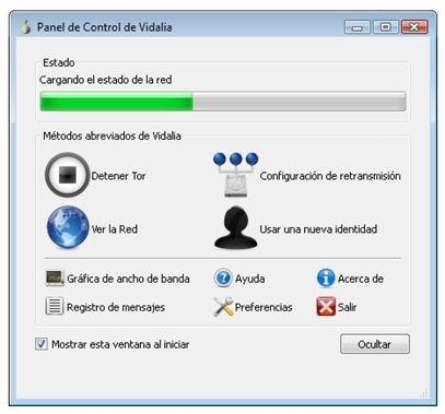 Panel de control de Tor