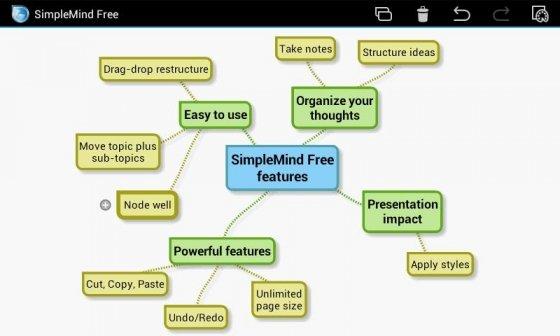 Mapas conceptuales en un dispositivo móvil con SimpleMind