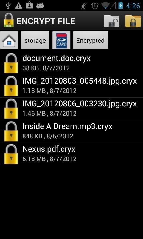 Encriptar archivos en Android