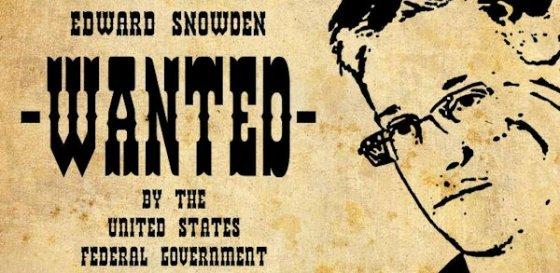 Cartel de búsqueda de Edward Snowden
