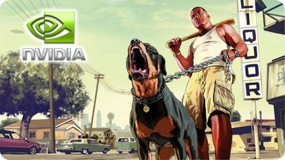 Montaje promocional de GTA5 y NVIDIA