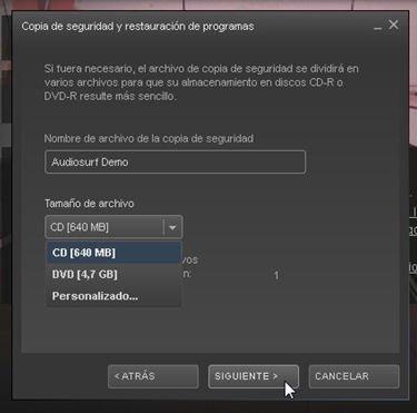 Elige entre el formato CD o el formato DVD
