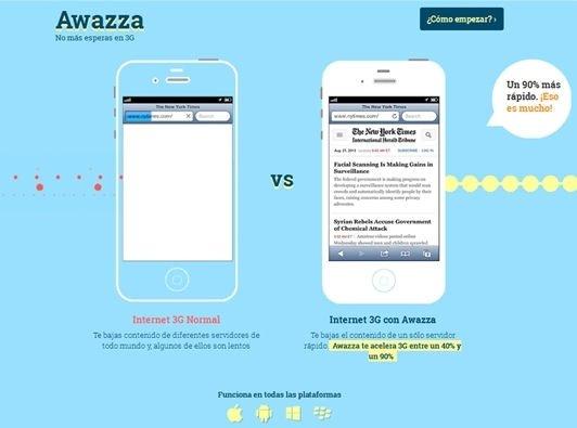 Página web de Awazza