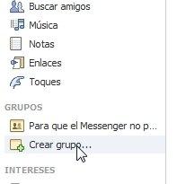 Creación de un nuevo grupo en Facebook