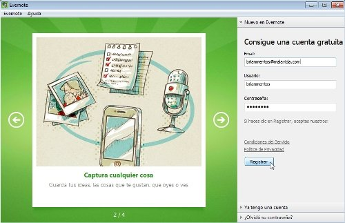 Registro Evernote