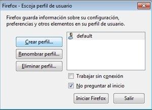 Crear perfil en Firefox