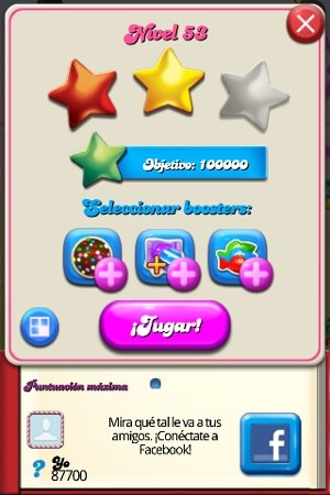 Candy Crush Niveles