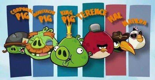 Más personajes protagonistas de Angry Birds Go!
