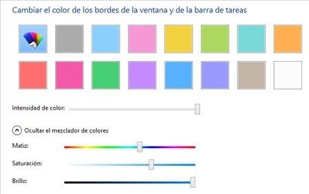 Color de las ventanas