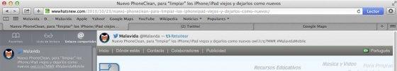 Hacer un retweet con Safaro en OS X Mavericks