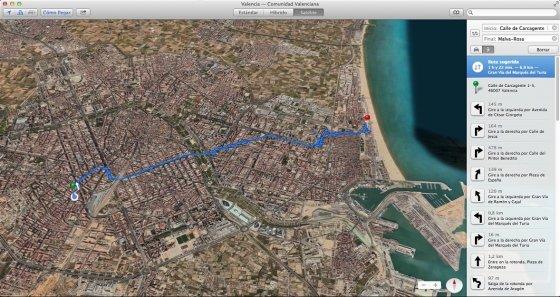 Cambios de Maps en OS X Mavericks