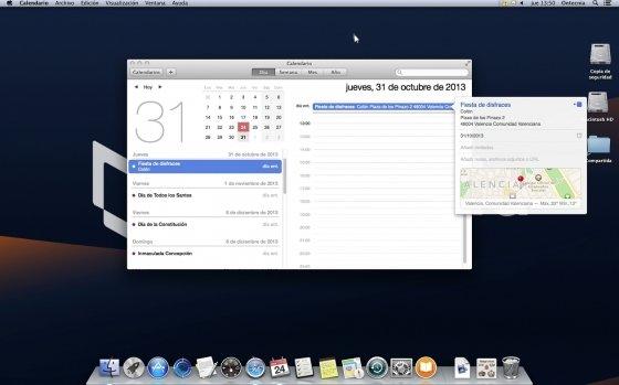 Gestión de eventos en Calendario de OS X Mavericks
