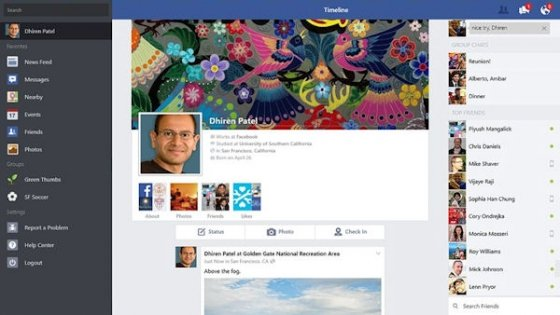 Timeline de Facebook para Windows 8.1