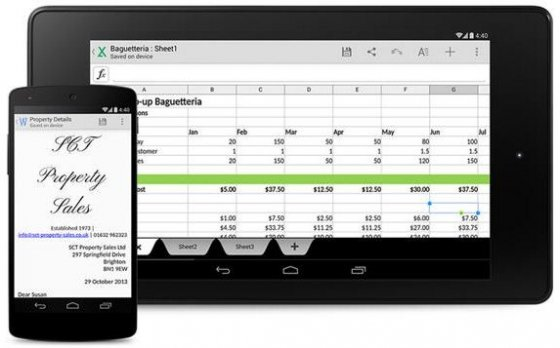 Aplicación QuickOffice