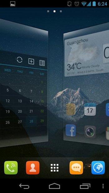 Lanzador de aplicaciones GO Launcher con efectos de transición