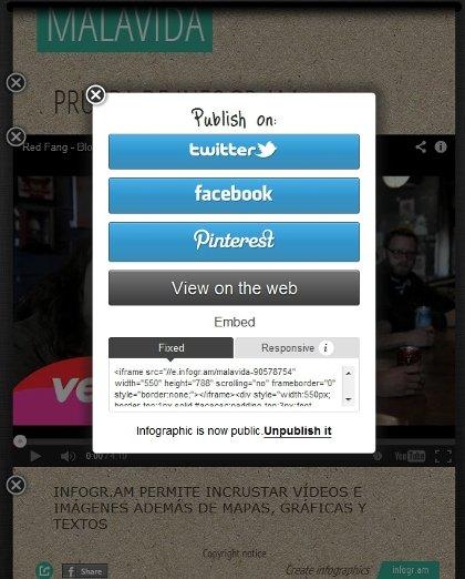 Compartir infografías en redes sociales con infogr.am