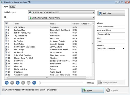 Extraer audio