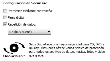 Función SecurDisc