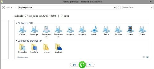 Restaurar archivos