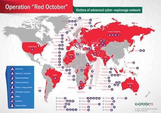 Mapa de las víctimas de Octubre Rojo