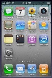 Pantalla de inicio de iOS 4.x