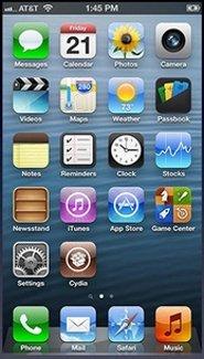 Pantalla de inicio de iOS 6.x