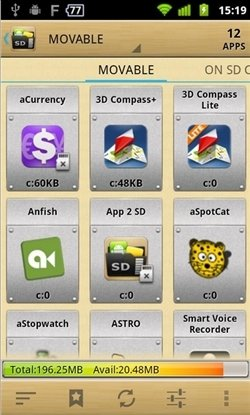 Mover apps con AppMgr III