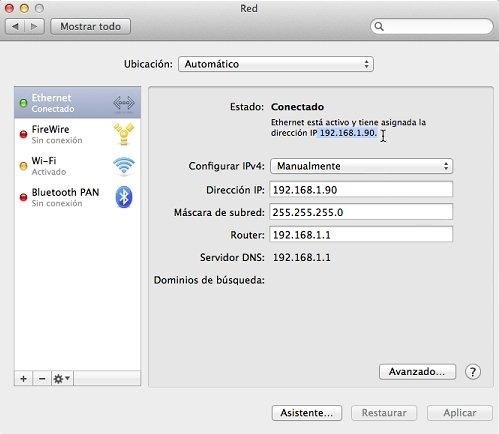 Dirección ID y MAC 2