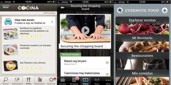 Aplicaciones para preparar comida con iPhone