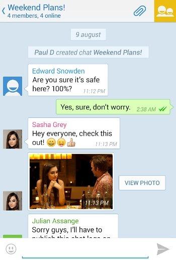 Esquema de seguridad de Telegram