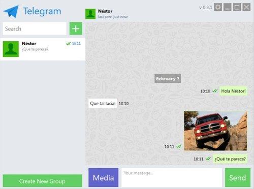Telegram conversación