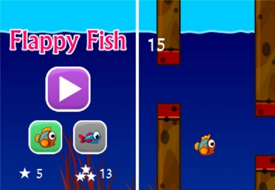 Capturas de Flappy Fish