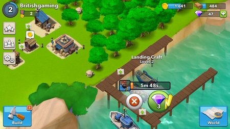 Captura de pantalla Boom Beach