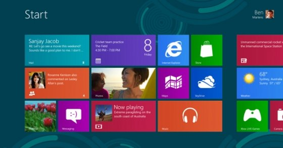 Windows 8 con la interfaz Modern UI