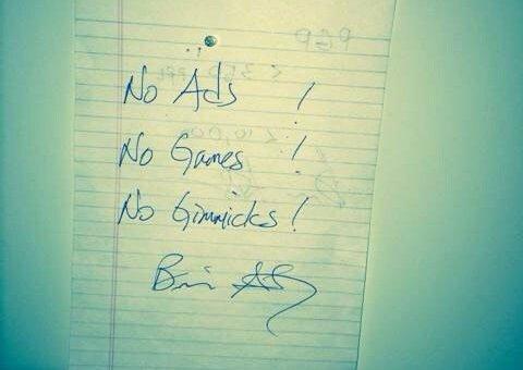 Nota manuscrita de Jan Koum, creador de WhatsApp