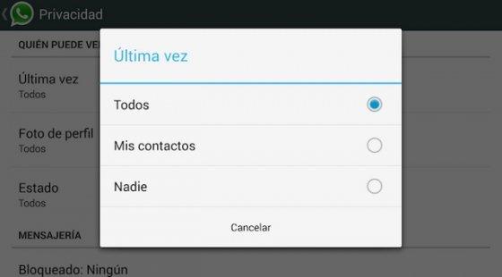 Cómo ocultar tu última conexión a WhatsApp