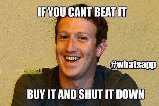 Meme sobre la compra de WhatsApp por parte de Facebook