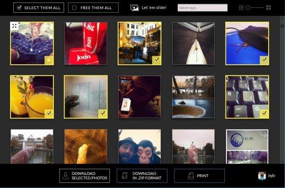 Selección de fotos en Save-o-gram
