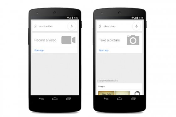 Comandos de voz para hacer fotos y grabar vídeos para Google Search/Google Now