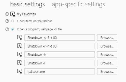 Configuración de teclas con funciones en un teclado para Windows 8