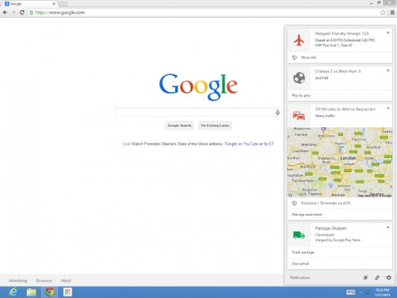 Google Now en un equipo Windows a través de Google Chrome
