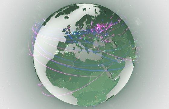 Mapa interactivo de la ciberguerra mundial contra el malware