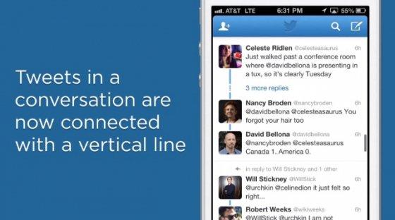 Fotograma del vídeo de Twitter sobre la nueva visualización de conversaciones