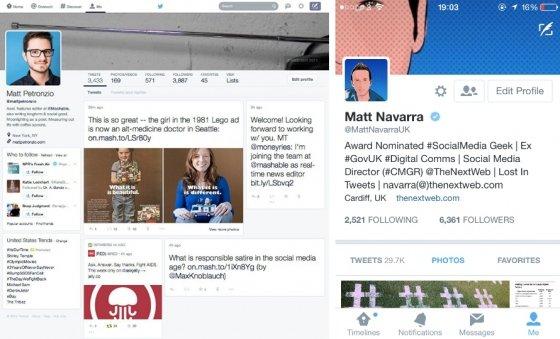 Interfaz de Twitter en pruebas
