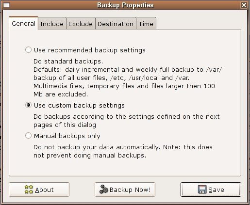 Captura Simple Backup