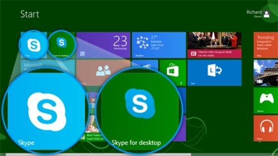 Skype para Windows 8 y de escritorio
