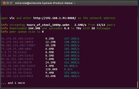 Usando Peerflix desde la consola de comandos