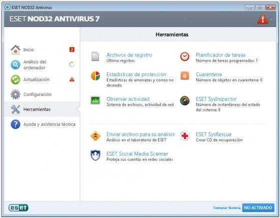 Las herramientas incluidas en NOD32